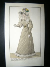 Townsend's Quarterly C1825 Hand Col Regency Fashion Print 44